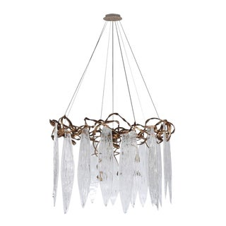 Commercial Niagara Round Glass Chandelier For Sale