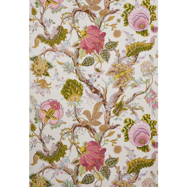 A lush, large-scale floral inspired by the quintessential tree of life patterns in traditional palampores. Based on a...