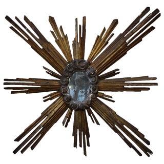 19th Century Italian Sunburst Mirror For Sale