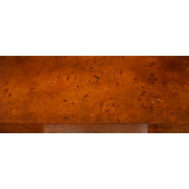 Mid-Century Modern Milo Baughman Burl Wood Console Table For Sale - Image 9 of 10