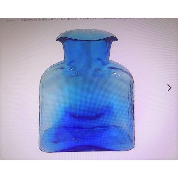 Blenko Hand Made Glass Water Pitcher For Sale - Image 11 of 12