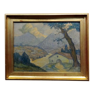 Valentin De Zubiaurre Jr - 1920s Spanish Basque Landscape -Oil Painting For Sale