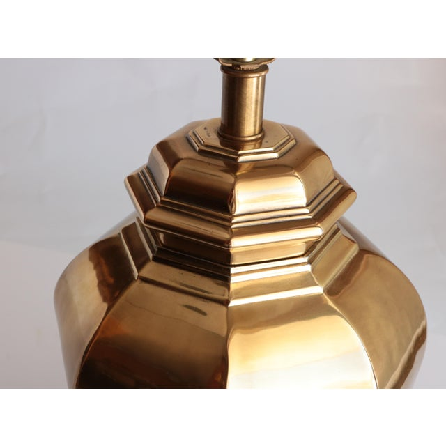 Asian Frederick Cooper Brass Twist Table Lamp For Sale - Image 3 of 6