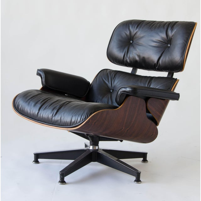 Vintage Eames Lounge Chair With Ottoman - Image 3 of 9
