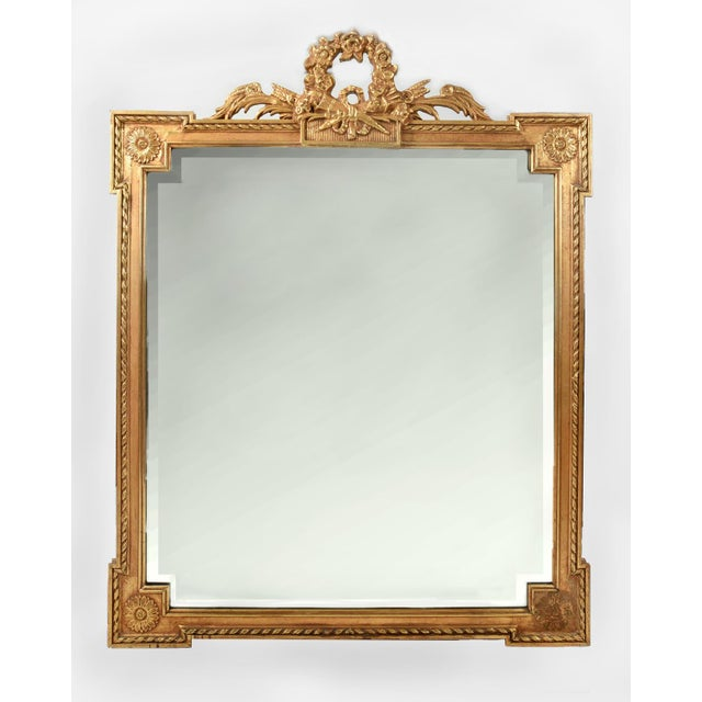Early 20th Century Matching Pair of Giltwood Hanging Beveled Mirrors For Sale - Image 10 of 11