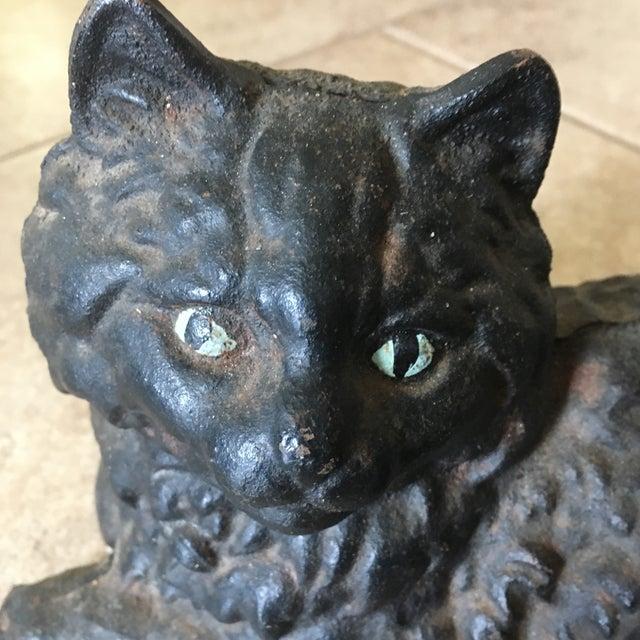 Antique Hubley Cast Iron Persian Cat Doorstop - Image 3 of 10