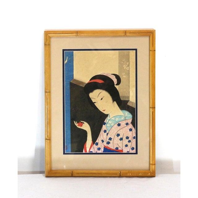 Original 1800s Japanese Asian Art Print - Image 2 of 6
