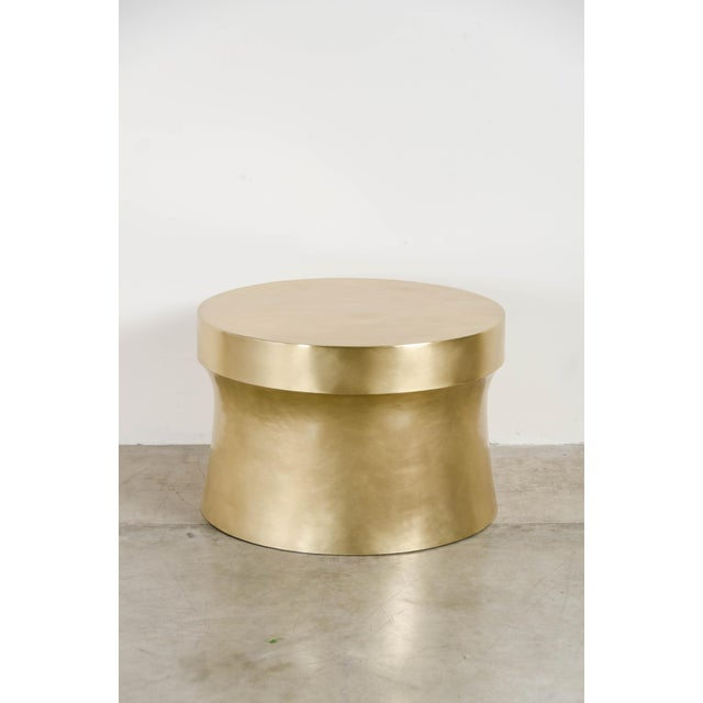 Dong Shan Table - Brass by Robert Kuo, Hand Repousse, Limited Edition For Sale In Los Angeles - Image 6 of 6