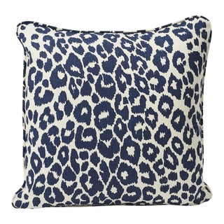 Schumacher Double-Sided Pillow in Iconic Leopard Print For Sale