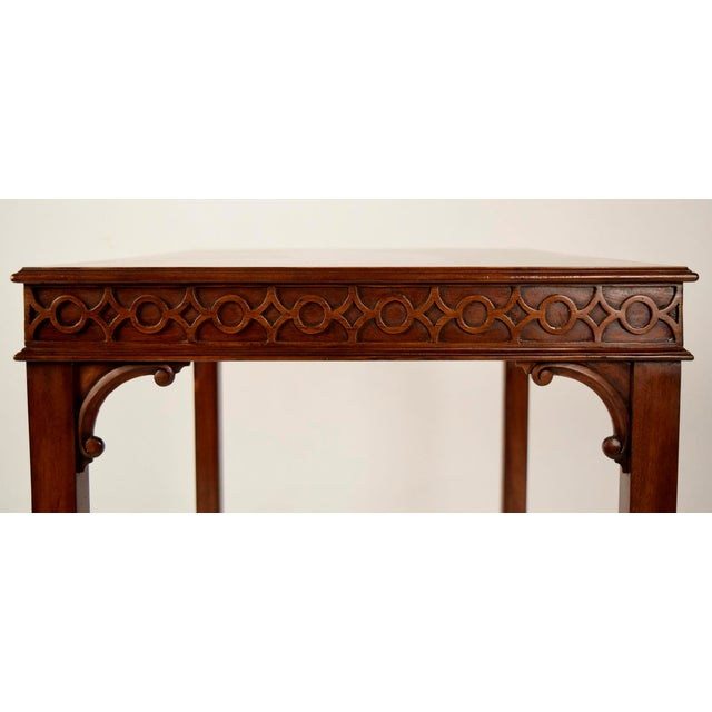 Traditional Mahogany Sheraton Style Side Table - Image 2 of 5