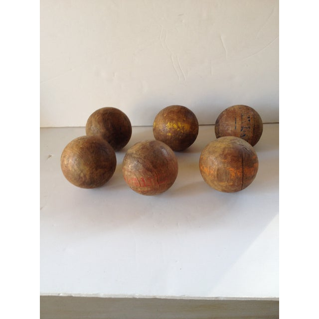 Wood Lawn Balls - Set of 6 - Image 5 of 5