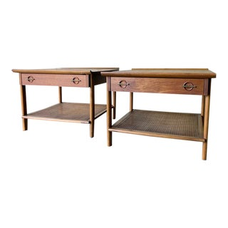 Mid Century Modern Walnut End Tables / Side Tables by Lane Furniture For Sale