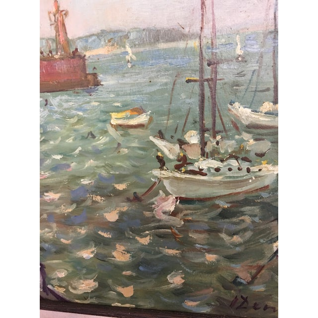 Ivan Denysenko Harbor Painting For Sale - Image 9 of 9