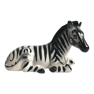 Vintage Ceramic Zebra Sculpture