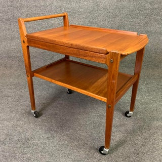 Vintage Danish Mid Century Modern Teak Cocktail Cart by Erik Gustafssons Preview