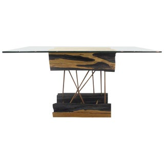 Brazilian Amazonian Guaranta Wood Console by Contemporary Artist Valeria Tott