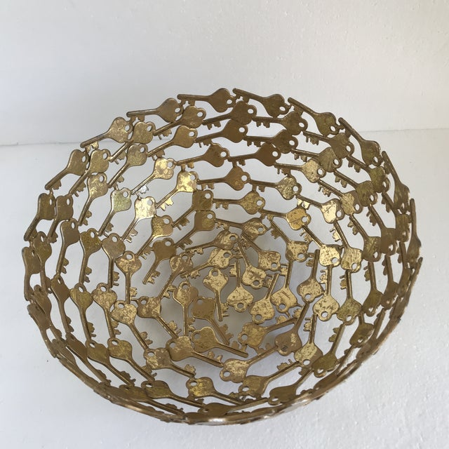 Fabulous vintage key modern art decor bowl. So unusual and fun. Great for a game room filled with pool balls or in the...