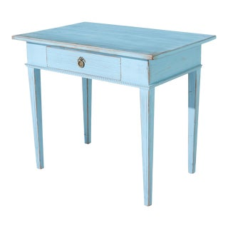 Antique Gustavian Blue Writing Desk For Sale