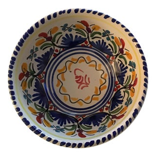 Small Hand Painted Spanish Ceramic Artisan Bowl For Sale
