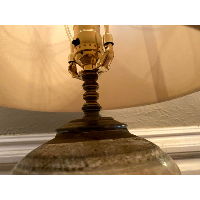 Glazed Chinese Sage Green Ginger Jar Table Lamp With Shade For Sale - Image 11 of 13