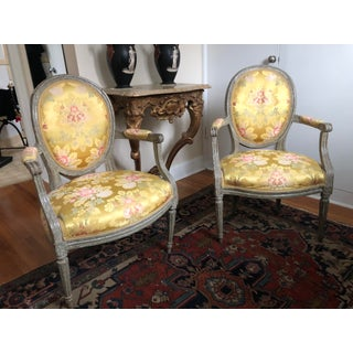 18th Century Vintage Louis XVI 1760s French Fauteuils- A Pair Preview