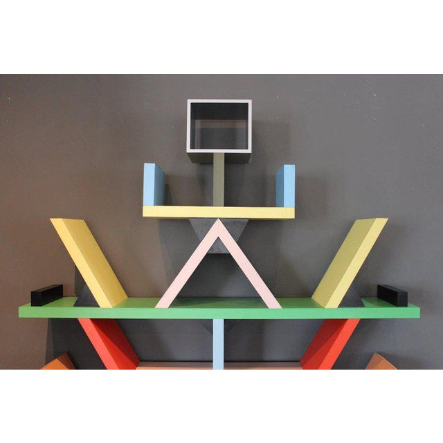 Early Carlton Bookcase Roomdivider by Ettore Sottsass for Memphis, 1981 For Sale In Dallas - Image 6 of 10