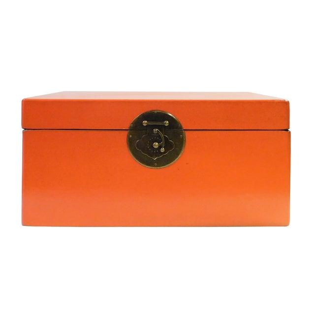 Orange Rectangular Container Box - Image 1 of 6