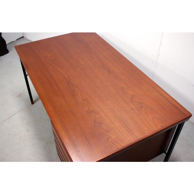 Vintage Danish Modern Arne Vodder for Jon Stuart Teakwood Writing Desk For Sale In Philadelphia - Image 6 of 12