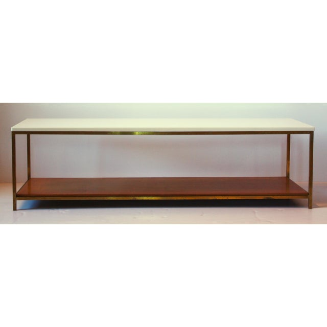 1950s Mid-Century Bronze and Vitrolite Coffee Table by Paul McCobb For Sale - Image 5 of 5