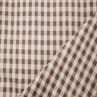 French Country Elizabeth Eakins Gingham Linen Designer Fabric by the Yard Preview