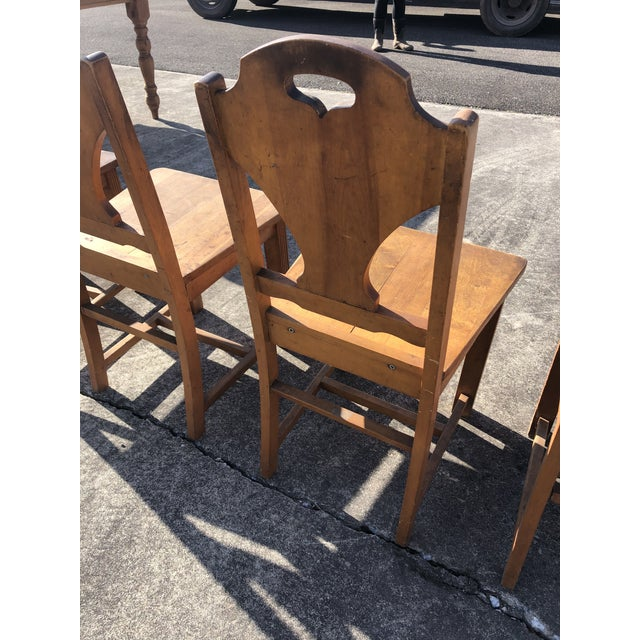 Art Deco Style Wooden Side Dining Chairs -Set of 4 For Sale In Philadelphia - Image 6 of 13