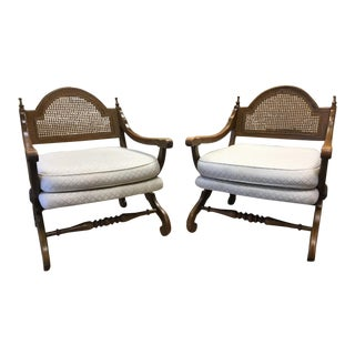 Mid-Century Campeche Inspired Accent Chairs- a Pair For Sale