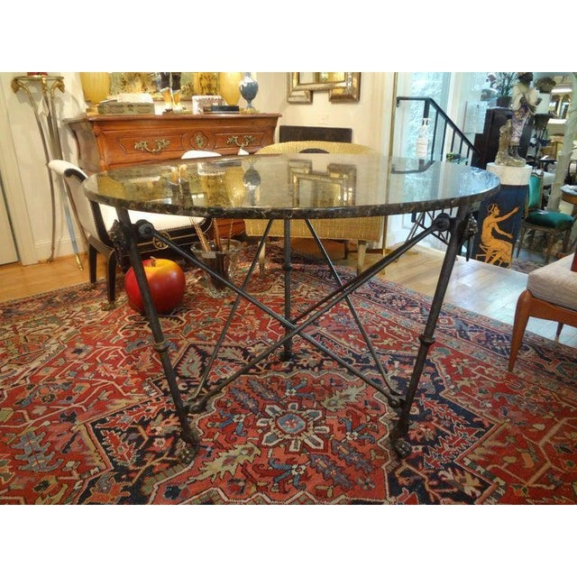 Alberto & Diego Giacometti Italian Neoclassical Style Steel and Bronze Center Table After Giacometti For Sale - Image 4 of 13