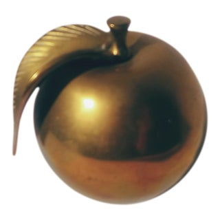 Mid -Century Brass Apple