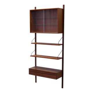 1960s Royal System Cado Modular Teak Wood Floating Wall Shelving Unit For Sale