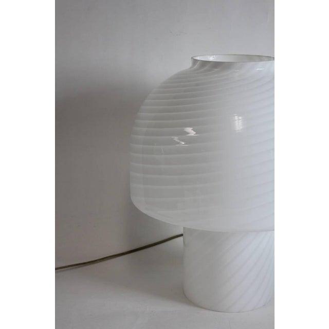 Italian Vintage Vistosi Murano Mushroom Table Lamp For Sale - Image 3 of 4