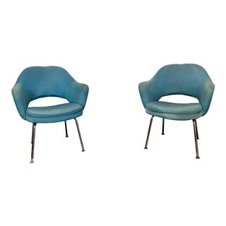 Mid-Century Knoll Executive Arm Chairs - a Pair For Sale