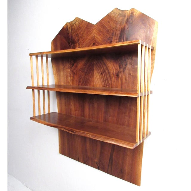 Modern Live Edge Wall Shelf After George Nakashima For Sale - Image 13 of 13