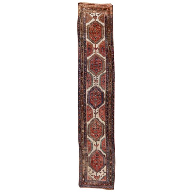 Mid 20th Century Vintage Runner Rug For Sale - Image 9 of 9
