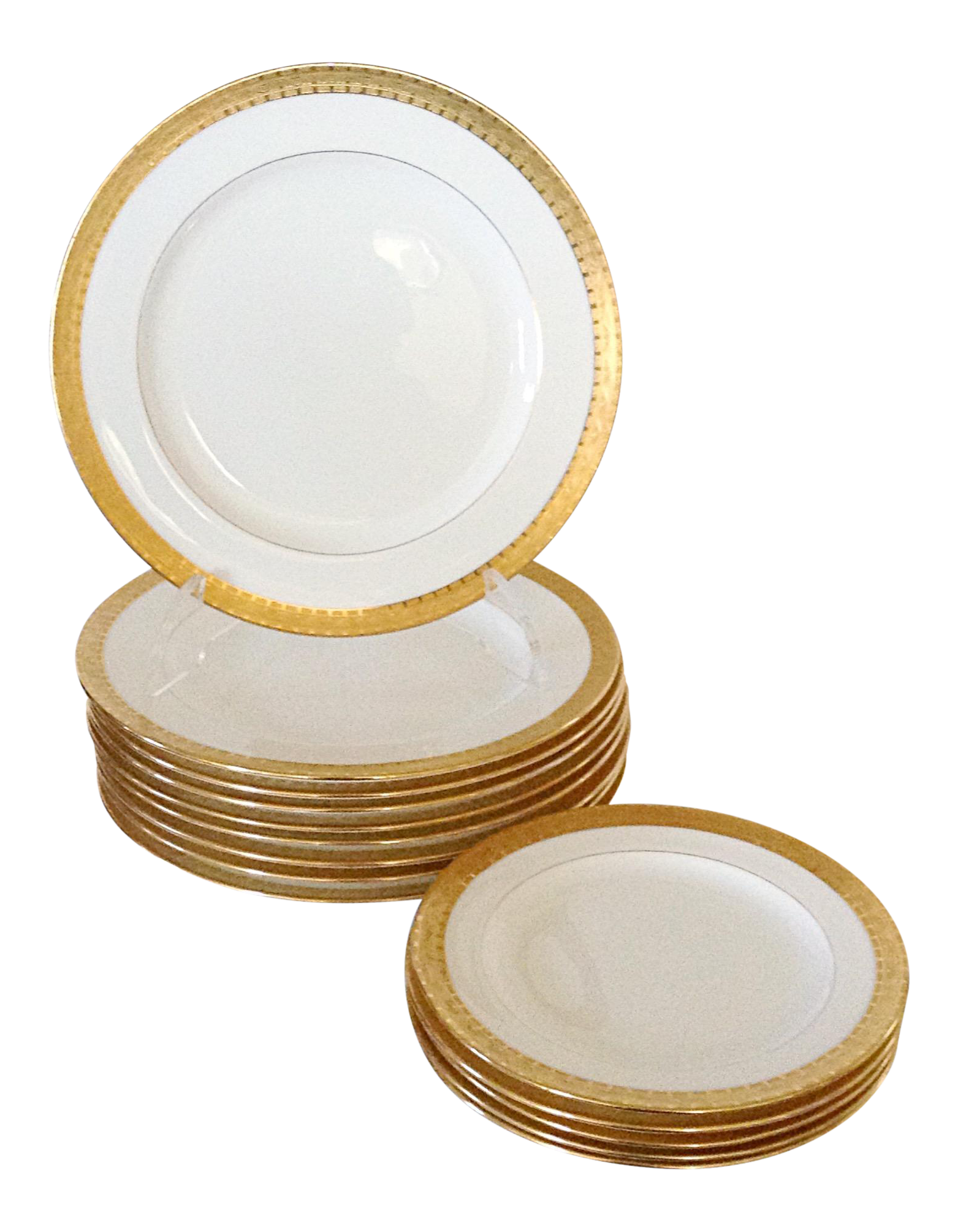 Set of 9 Milton Gold Band Dinner Plates With a set of 5 Salad Plates  sc 1 st  Chairish & Set of 9 Milton Gold Band Dinner Plates With a set of 5 Salad Plates ...