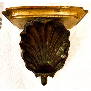 Hollywood Regency Palladio Giltwood Shell Wall Brackets- a Pair Preview