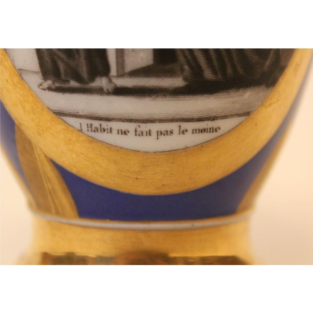 Small Cobalt Blue & Gold Directoire Pitcher For Sale - Image 4 of 6