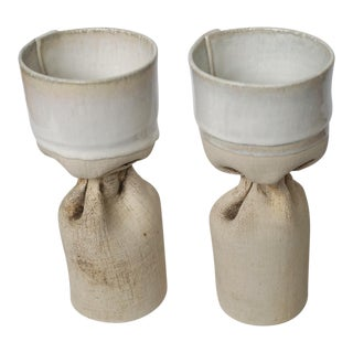 Organic Pottery Candle Holders