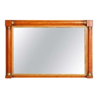 Antique American Empire Parcel-Gilt Satinwood Over Mantel Mirror, circa 1830 For Sale