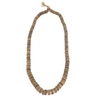 Antique Tibetan Bone Necklace For Sale