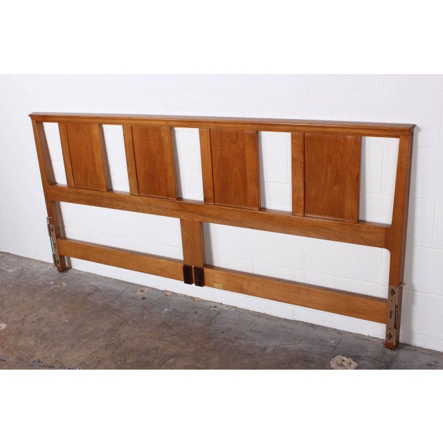 Mid-Century Modern Bleached Mahogany Headboard by Edward Wormley for Dunbar For Sale - Image 3 of 10