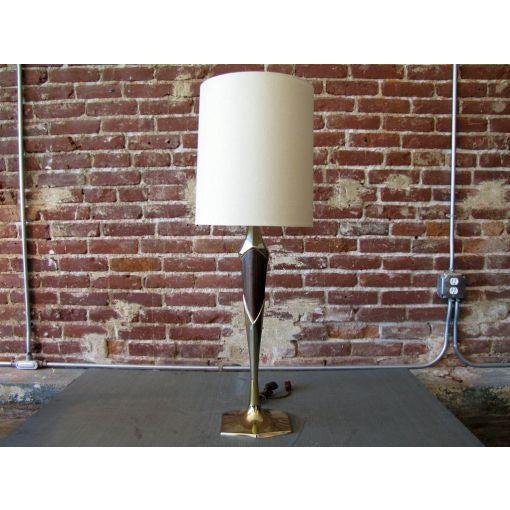 Single tall sculptural Laurel table lamp