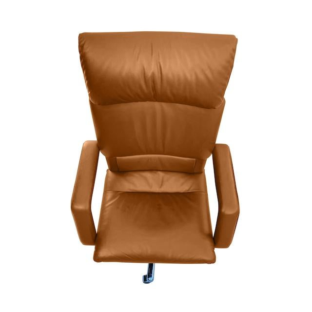 Early 21st Century Mario Bellini Executive Swivel Chair in Leather For Sale - Image 5 of 13