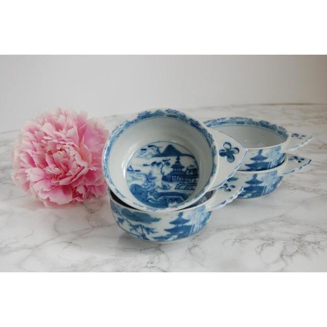 Mottahedeh Blue Canton Porringer Bowls - Set of 4 - Image 2 of 6