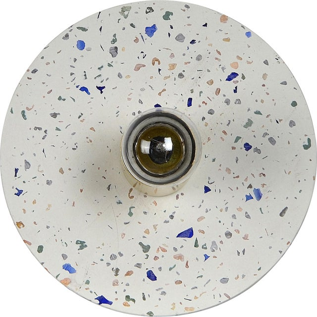 Modern Zin White And Multicolour Terrazzo Wall Sconce For Sale - Image 3 of 6